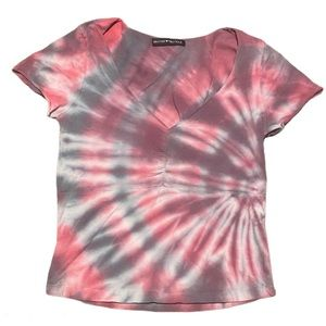 Brandy Melville tie dyed crop t-shirt tee small